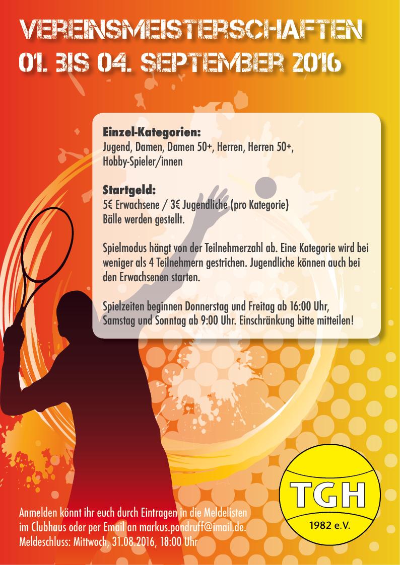 Plakat Vereinsmeisterschaften 2016